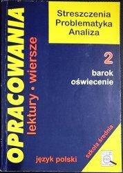 OPRACOWANIA TOM 2 BAROK OŚWIECENIE - Stopka 1998