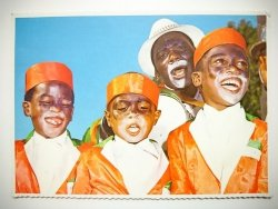 CAPE TOWN. COONS WELCOME THE NEW YEAR WITH SONG, SMILES AND COLOURFUL COSTUMES