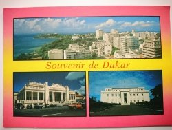 DAKAR. THE CORNICHE, THE CHAMBER OF COMMERCE AND THE PRESIDENT'S HOUSE
