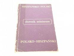 SŁOWNIK MINIMUM HISZPAŃSKO-POLSKI POLSKO-HISZPAŃSK