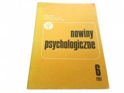 NOWINY PSYCHOLOGICZNE 6 1987