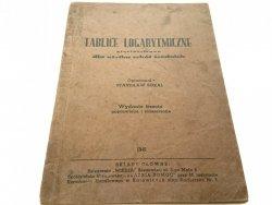 TABLICE LOGARYTMICZNE - Stanisław Sokal 1948