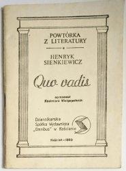 POWTÓRKA Z LITERATYRY. QUO VADIS - SIENKIEWICZ 1990