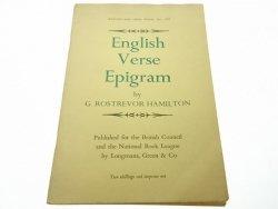 ENGLISH VERSE EPIGRAM - G. Rostrevor Hamilton 1965