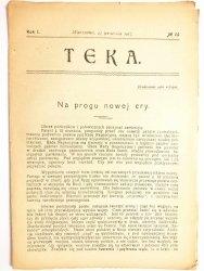 TEKA. NR 14 ROK I WARSZAWA, 23 WRZEŚNIA 1917