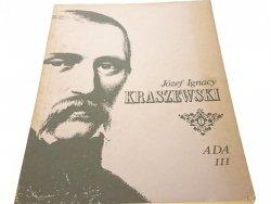 ADA TOM III - Józef Ignacy Kraszewski (1986)