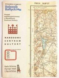 GDAŃSK (DANZIG) ZOPPOT-OLIVAER WALDES PRZEDRUK MAPY Z 1938 ROKU