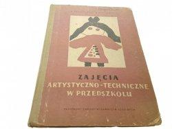 ZAJĘCIA ARTYSTYCZNO-TECHNICZNE W PRZEDSZKOLU 1959