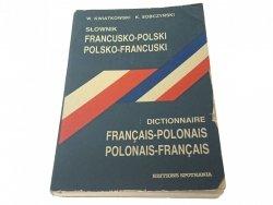 SŁOWNIK FRANCUSKO-POLSKI POLSKO-FRANCUSKI 1991