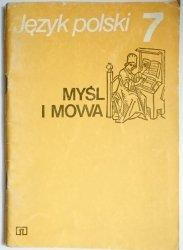 JĘZYK POLSKI 7 MYŚL I MOWA - Wójcik 1992