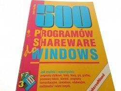 500 PROGRAMÓW SHAREWARE DO WINDOWS - Hedtke 1994