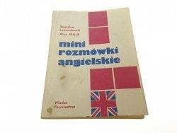 MINI ROZMÓWKI ANGIELSKIE - B. Lawendowski 1980