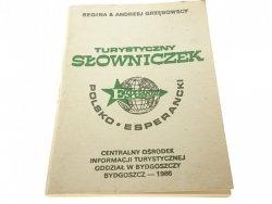 TURYSTYCZNY SŁOWNICZEK POLSKO ESPERANCKI 1986