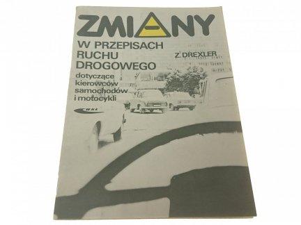 ZMIANY W PRZEPISACH RUCHU DROGOWEGO 1984