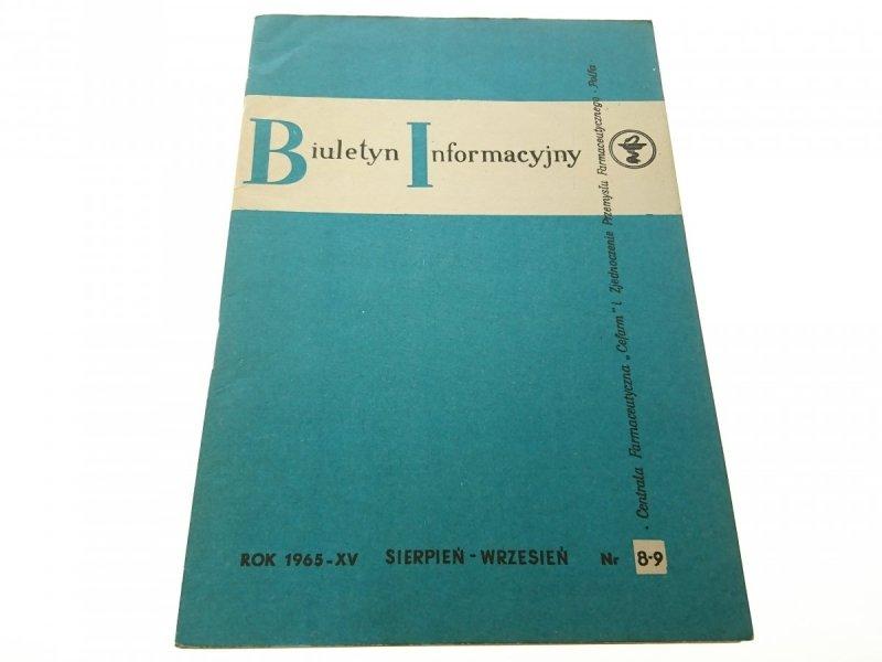 BIULETYN INFORMACYJNY ROK 1965-XV SIE-WRZ 8-9
