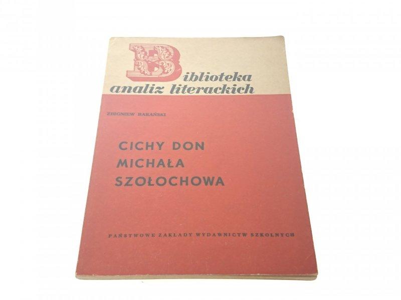 CICHY DON MICHAŁA SZOŁOCHOWA - Z. Barański
