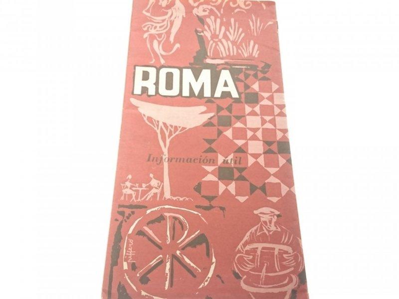 ROMA. INFORMACIÓN UTIL