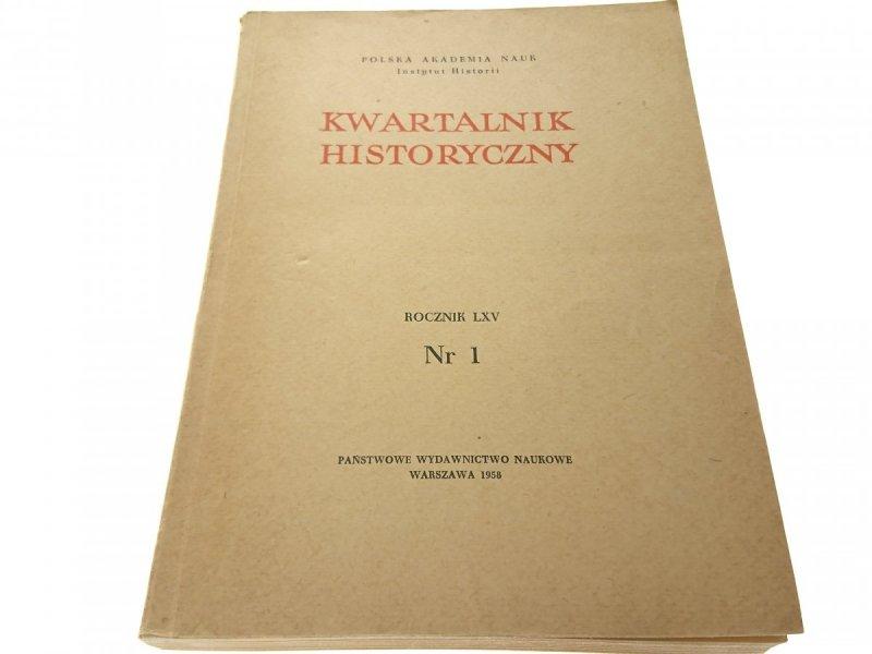 KWARTALNIK HISTORYCZNY NR. 1