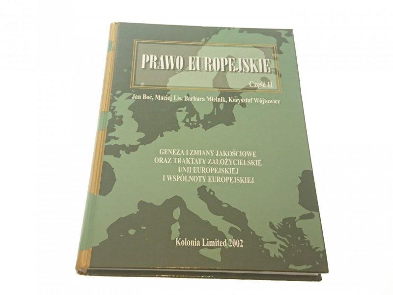 PRAWO EUROPEJSKIE CZĘŚĆ II - Jan Boć (2002)