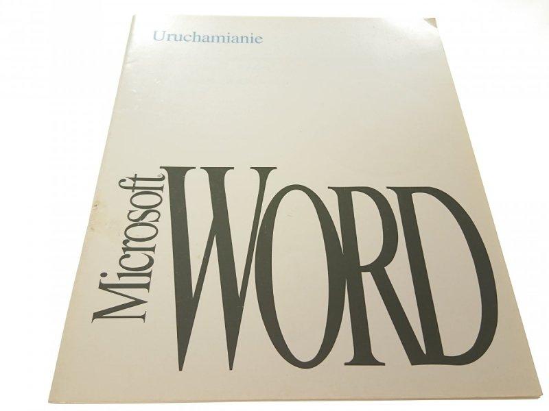 URUCHAMIANIE MICROSOFT WORD (1993)