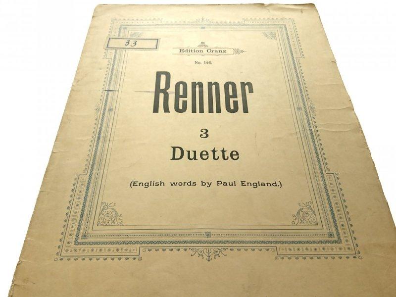 3 DUETTE OP.2 - Max Renner