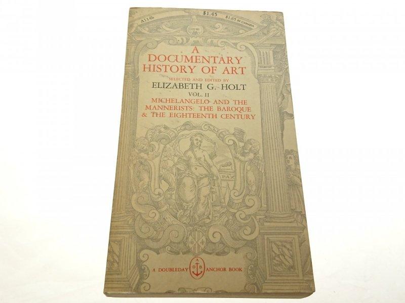 A DOCUMENTARY HISTORY OF ART Elizabeth G.Holt 1958