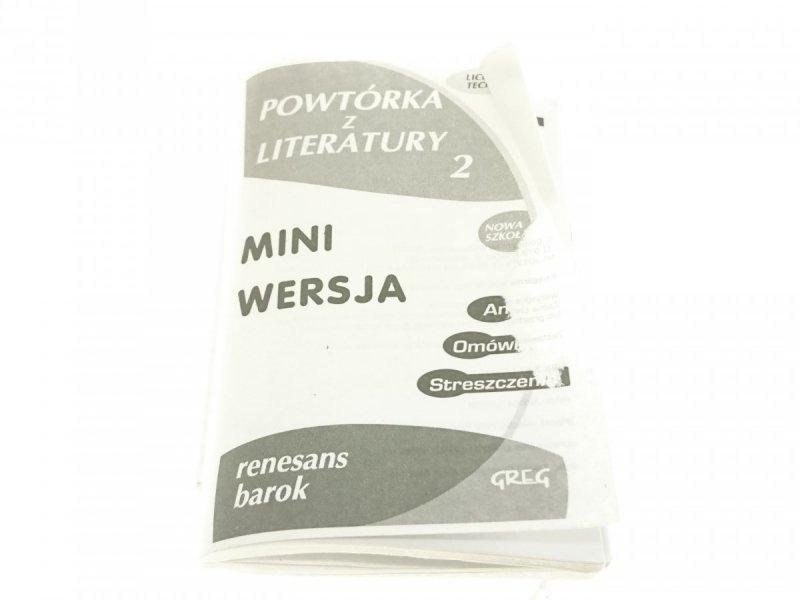 POWTÓRKA Z LITERATURY 2 MINI WERSJA. RENESANS
