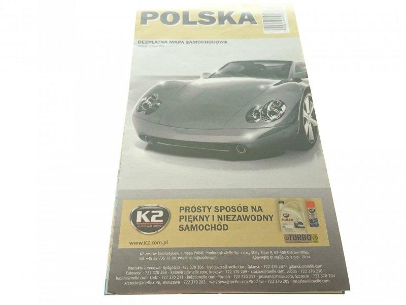 POLSKA. MAPA SAMOCHODOWA 1:950 000 2014