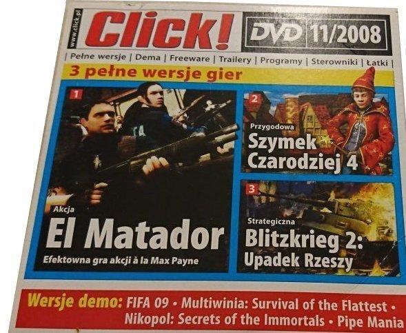 CLICK! DVD 11/2008 EL MATADOR; SZYMEK CZARODZIEJ 4