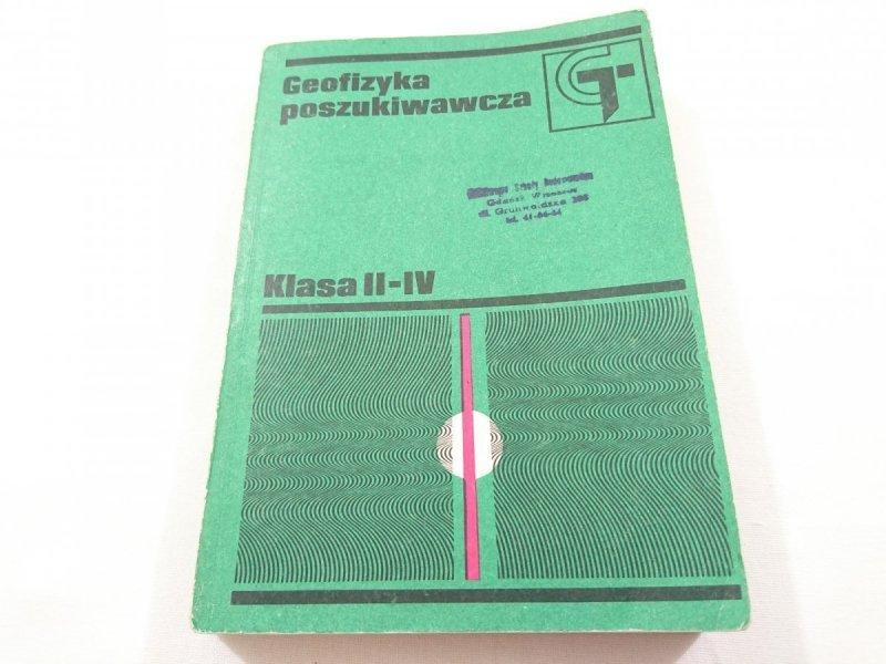 GEOFIZYKA POSZUKIWAWCZA. KLASA II-IV 1987