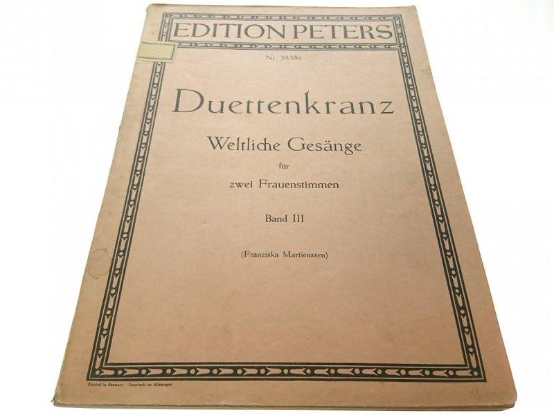 WELTLICHE GESANGE BAND III - DUETTENKRANZ
