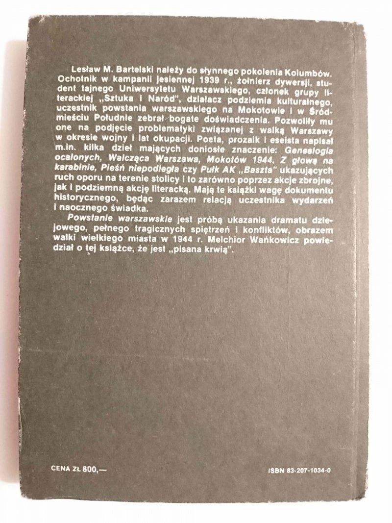 POWSTANIE WARSZAWSKIE - Lesław M. Bartelski 1988