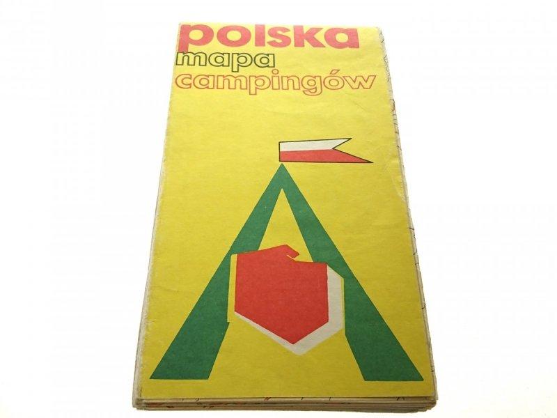 POLSKA MAPA CAMPINGÓW 1: 750 000