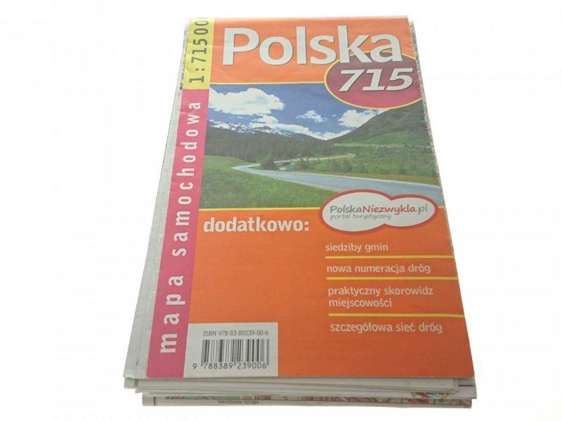 POLSKA 715 MAPA SAMOCHODOWA 1 : 715 000 2010