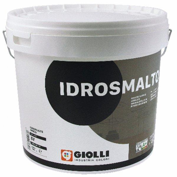 IDROSMALTO OPACO - 12L (biała, matowa, akrylowa, super-zmywalna farba do wnętrz i na fasady z możliwością barwienia)