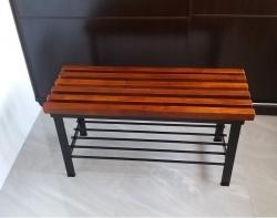 Ławka z półką - kasztan