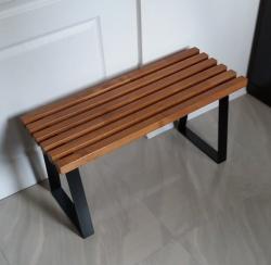 Ławka metalowo drewniana  T