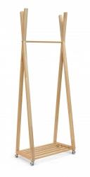 Wieszak drewniany B - 3 M  Slim