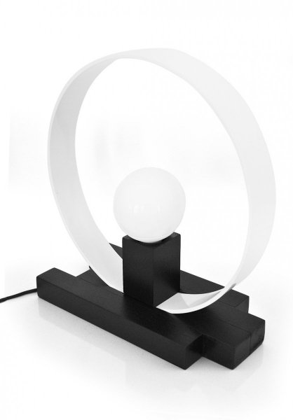 Lampa na biurko  Czarno - biała