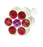 BLOMDAHL - 12-0114-48 DAISY 5mm Ruby/ Rose