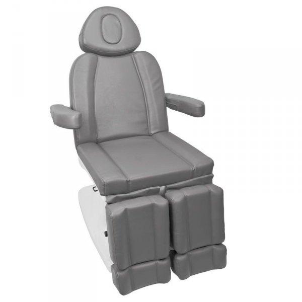 Fotel kosmetyczny elektr. Azzurro 708AS Pedi 3sil. - szary