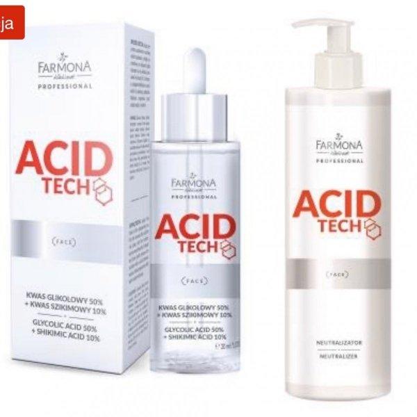 Farmona Acid Tech- Kwas glikolowy 50% + Szikimowy 10% 30 ml + Neutralizator 280ml