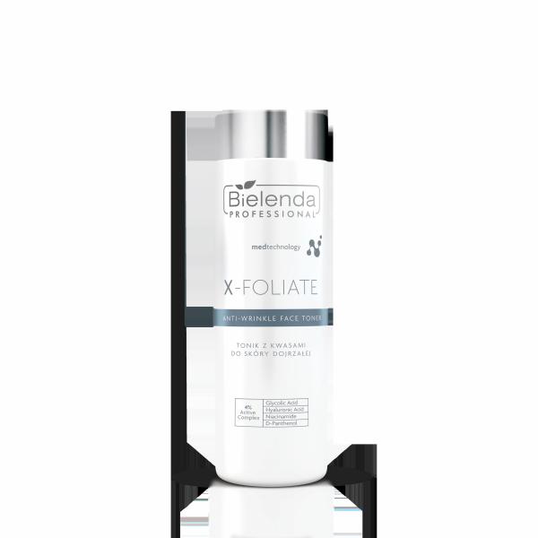 Bielenda X-Foliate Anti Wrinkle Tonik kwasowy do skóry dojrzałej 200ml