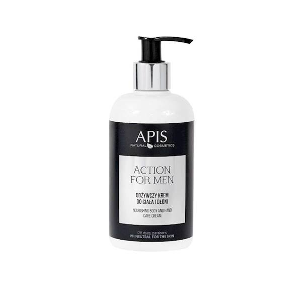 Apis ACTION FOR MEN Odżywczy krem do rąk i ciała, 300ml