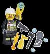 LEGO City magazyn 4/2017 + strażak z ekwipunkiem