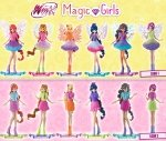 Winx Club Wydanie specjalne 1/2018 + Prezent 1 z 6 figurek Magic Girls
