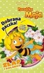 Pszczółka Maja Dobrana paczka Złap i koloruj! (24 kolorowanki + 24 naklejki + 4 kredki)