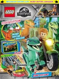 LEGO Jurassic World + młody raptor z gniazdem
