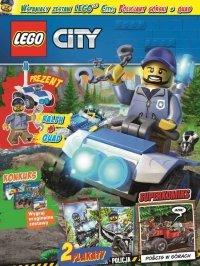 LEGO City magazyn 1/2018 + policjant Ralph i quad