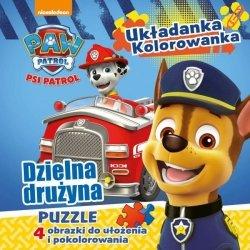 Psi Patrol Układanka Kolorowanka Dzielna drużyna